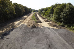 Carbón suave - antes Autobahn A4 cerca de Merzenich Fotos de archivo