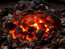 Carbón vivo Imagen de archivo libre de regalías