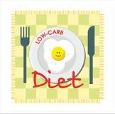 Carb dieta z smażącym jajkiem Obraz Stock