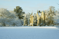 Carberry Tower in late afternoon sunshine. Carberry Tower House in winter with late afternoon sunshine Royalty Free Stock Image