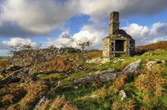 Carbilly Tor on Bodmin Moor. Abandoned quarry ruins at Carbilly Tor on Bodmin Moor in Cornwall stock photos