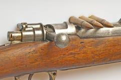 Carbine with ammunition Stock Photos