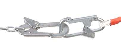 Carbine on chain clasped. Stock Images