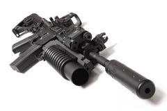 Carbine do assalto dos E.U.M4A1 com lançador de granadas Foto de Stock Royalty Free