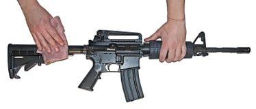 Carbine Norinco αμερικάνικου στρατού που απομονώνεται Στοκ Φωτογραφία
