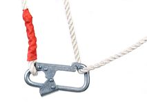 Carbine on rope. Royalty Free Stock Images