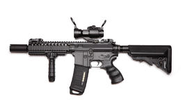 Carbine su ordinazione di assalto M4A1 Fotografie Stock