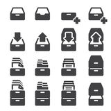 Carbinet icon set Stock Photography