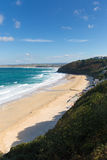 Carbis Bay near St Ives Cornwall England with sandy beach Royalty Free Stock Photo