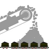 Carbón industry-1 Imagen de archivo