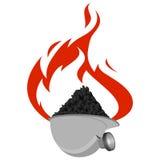 Carbón industry-5 del icono Foto de archivo