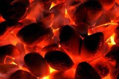 Carbón que brilla intensamente Imagen de archivo libre de regalías