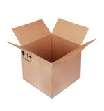 Carboard Box. Isolated on the white background Stock Images