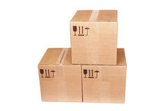 Carboard Boxes royalty free stock photography