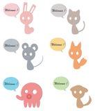 Carboard zwierząt use dla Witać royalty ilustracja