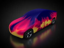 Carbody is lacquered. With flame samples Royalty Free Stock Photography