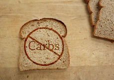 Carbohydrate ban Royalty Free Stock Image