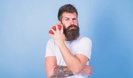 Carbohydrate content strawberry. Metabolic disease. Strawberries safest fruit for sugar levels. Mostly carbohydrates. Sucrose fructose glucose. Man beard royalty free stock photos