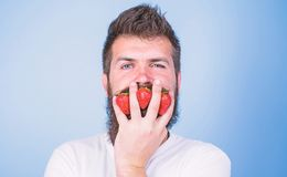 Carbohydrate content strawberry. Strawberries safest fruit for sugar levels. Metabolic disease. Mostly carbohydrates. Sucrose fructose glucose. Man beard stock photos