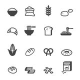 Carbohydrate food icons Stock Photography