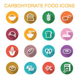 Carbohydrate food long shadow icons Stock Photo