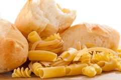 Carbohydrate. Healthy foods high in carbohydrate royalty free stock image