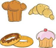 Carbohydrate icons. Four carbohydrate icons,vector illustration Royalty Free Stock Photos