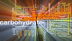Carbohydrate wordcloud concept illustration glowing Stock Photos