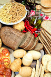 Carbohydrates Food. Food sources of carbohydrates.wellness concept stock photography