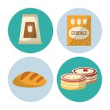 Carbohydrates food icons. Icon vector illustration graphic design vector illustration