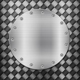 Carbon background and circle plate Stock Image