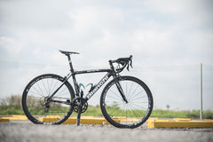 Carbon bicycle Royalty Free Stock Photography