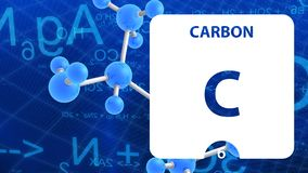 Free Carbon C, Chemical Element Sign. 3D Rendering Isolated On White Background. Carbon Chemical 6 Element For Science Experiments In Stock Photos - 160969563