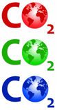 Carbon dioxide. The chemical named as one of the causes of global warming Royalty Free Stock Photos