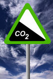 Carbon dioxide. Reducing global levels of carbon dioxide for a cleaner and greener planet and environment Stock Images