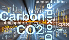 Carbon dioxide background concept glowing Royalty Free Stock Photo