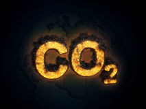 Carbon dioxide emissions concept Royalty Free Stock Images