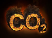 Carbon dioxide emissions concept Royalty Free Stock Image