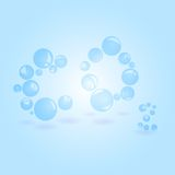 Carbon dioxide. Illustration transparent balls of carbon dioxide in the form of text Royalty Free Stock Photo