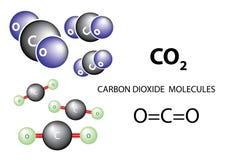 Carbon dioxide molecule Stock Image