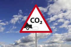 Carbon Dioxide Sign. It is a Carbon Dioxide Traffic Sign Royalty Free Stock Photo