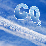 Carbon dioxide. Royalty Free Stock Image