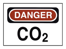 Carbon Dioxide Warning Royalty Free Stock Photos