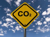 Carbon dioxide warning sign Royalty Free Stock Photography
