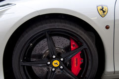 Carbon disk brake of a Ferrari 458 Stock Photography