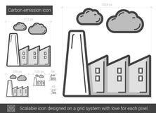Carbon emission line icon. Stock Image