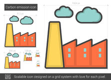 Carbon emission line icon. Royalty Free Stock Image