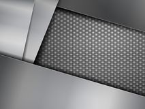Carbon fiber background. Steel plates and carbon fiber background Royalty Free Stock Images
