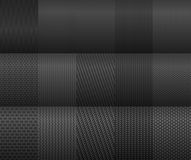 Carbon and fiber backgrounds. For texture design Royalty Free Stock Photography