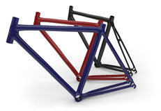 Carbon fiber bike frames Stock Photo